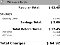 UWireless Bill